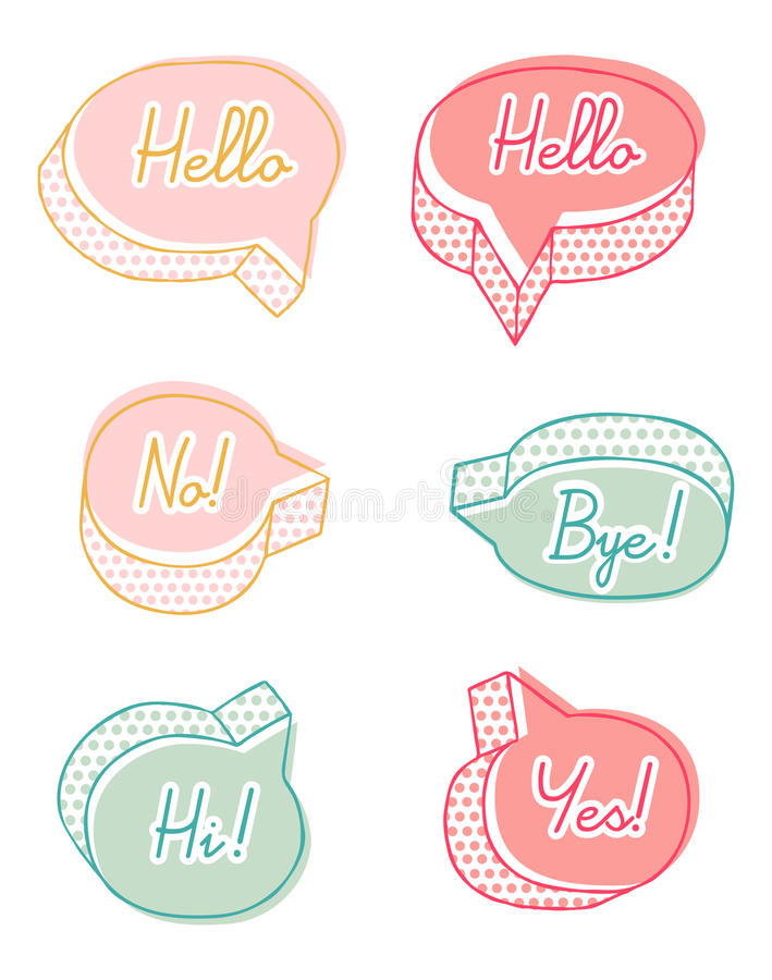 Download Colorful talk bubbles stock image. Image of dialog, speech - 20230767