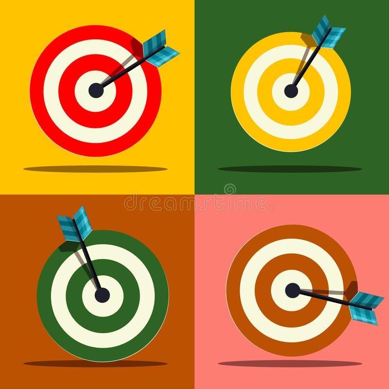 Download Target Icons Set. Vector. stock vector. Illustration of perfect - 117816419