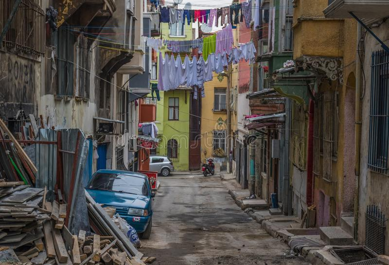 The colorful Tarlabasi district. Istanbul royalty free stock image