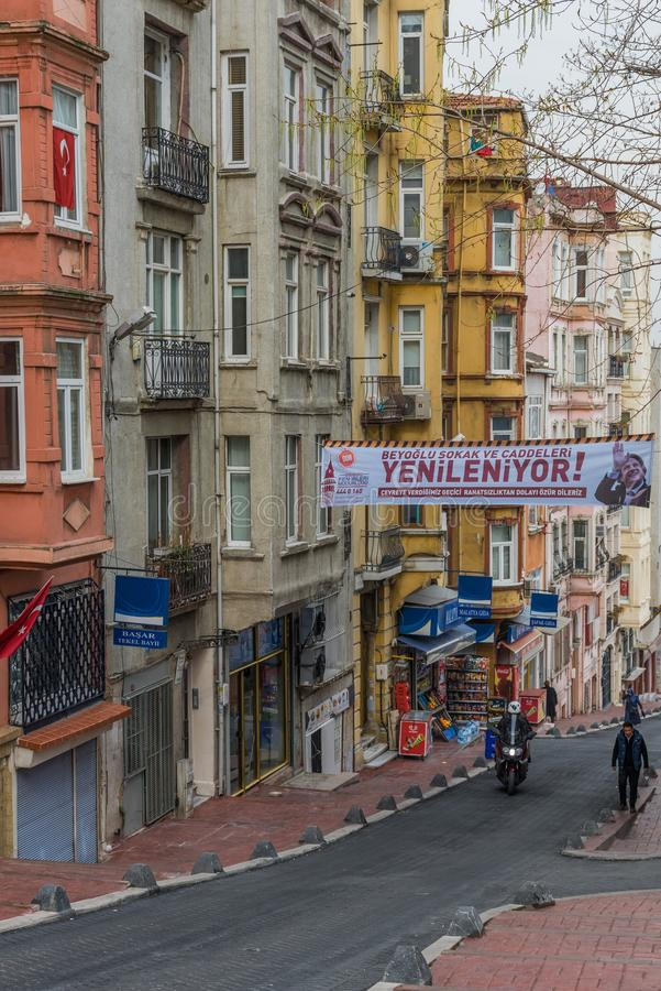The colorful Tarlabasi district. Istanbul stock photography