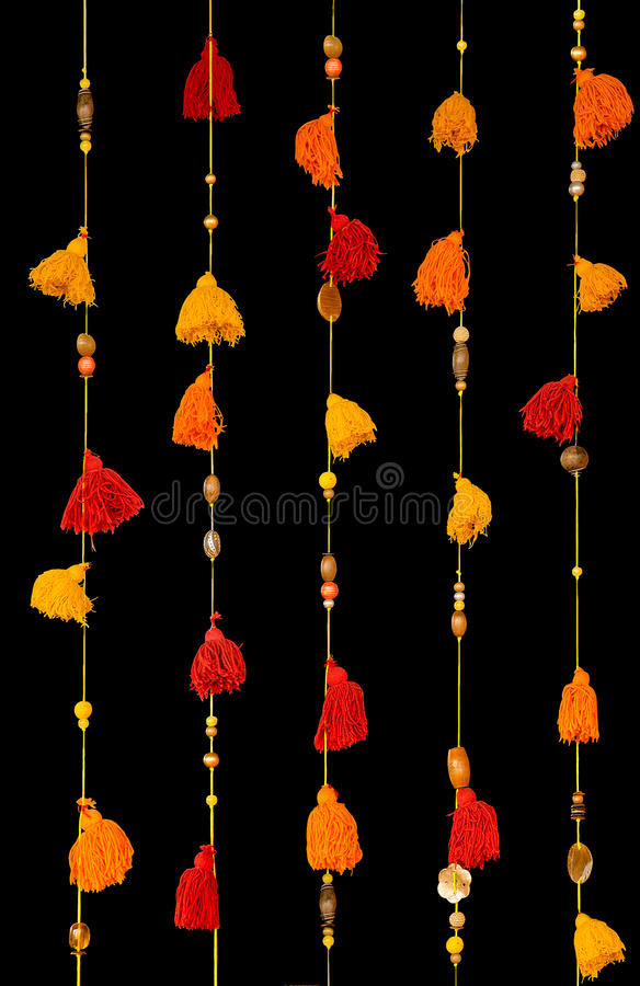 Colorful tassels stock images