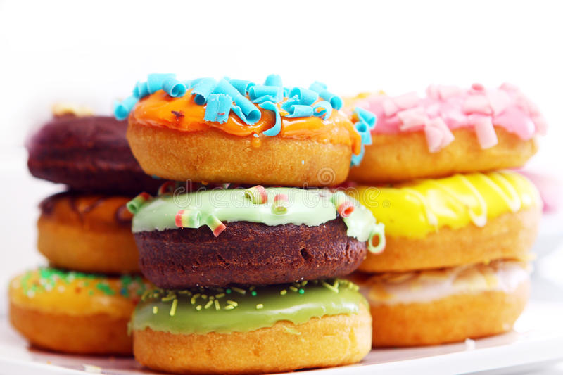 Download Colorful and tasty donuts stock photo. Image of coffee - 18671576