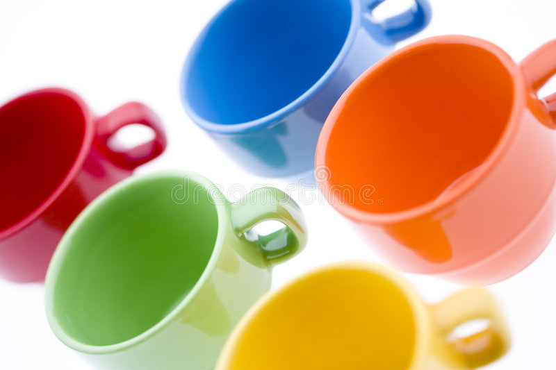 Download Colorful Tea Mugs Stock Images - Image: 7110144