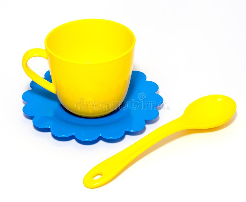 Colorful tea-set toy royalty free stock photography