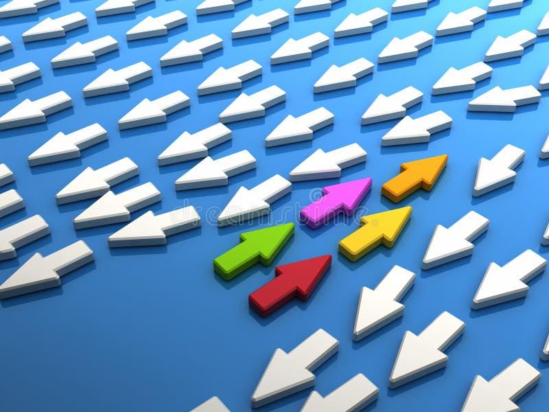 Download Colorful teamwork stock illustration. Illustration of follower - 23135246