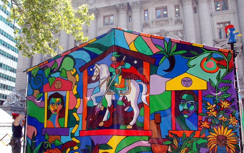 Download Colorful tent editorial stock image. Image of front, museum - 22338194