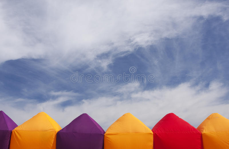 Download Colorful tents stock image. Image of blue, together, house - 13116509