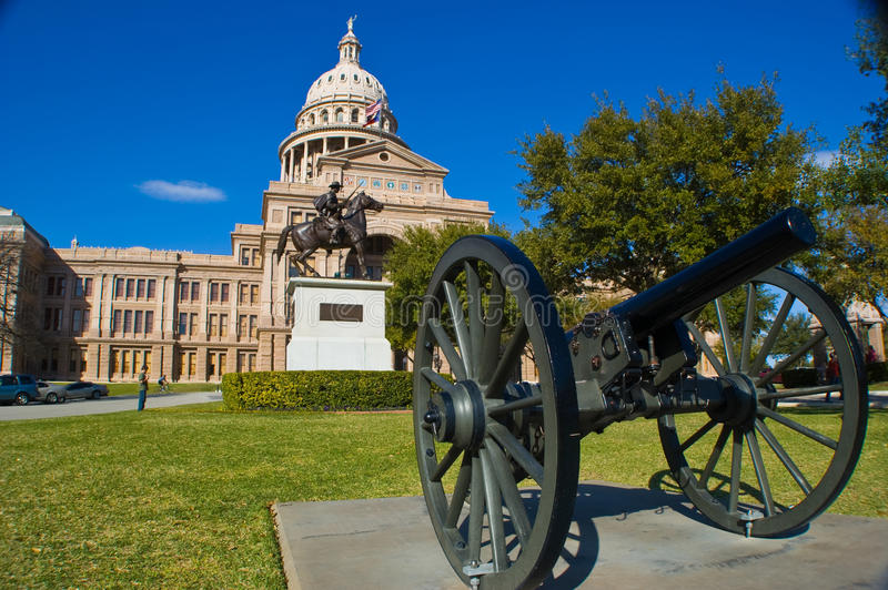 Colorful Texas state capital building straight Forward royalty free stock photos
