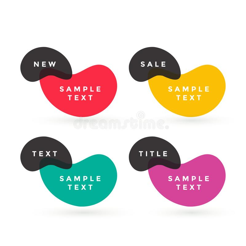 Colorful text labels vector design vector illustration