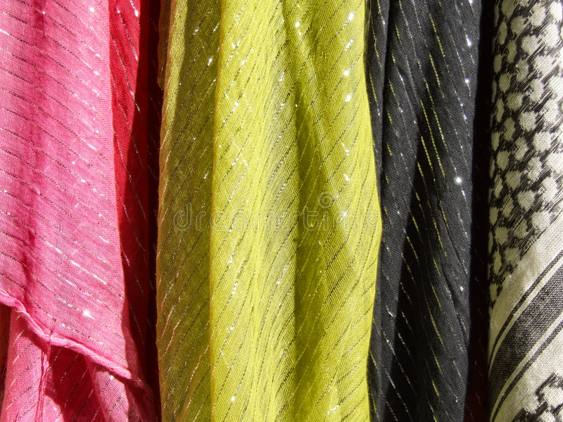 Download Colorful Textile - Cloth Scarves Stock Image - Image: 1360797
