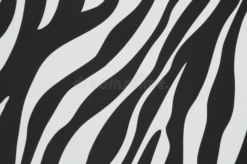 Colorful texture black and white in seamless stripes of zebra patterns on concrete wall for background royalty free stock image