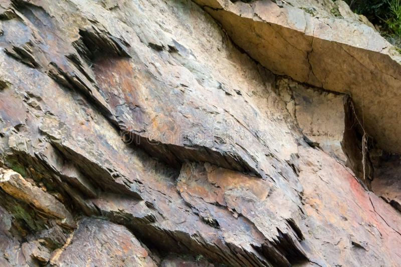 Texture of stone formation in National Park Eifel. Colorful texture of stone formation in National Park Eifel for background royalty free stock photo