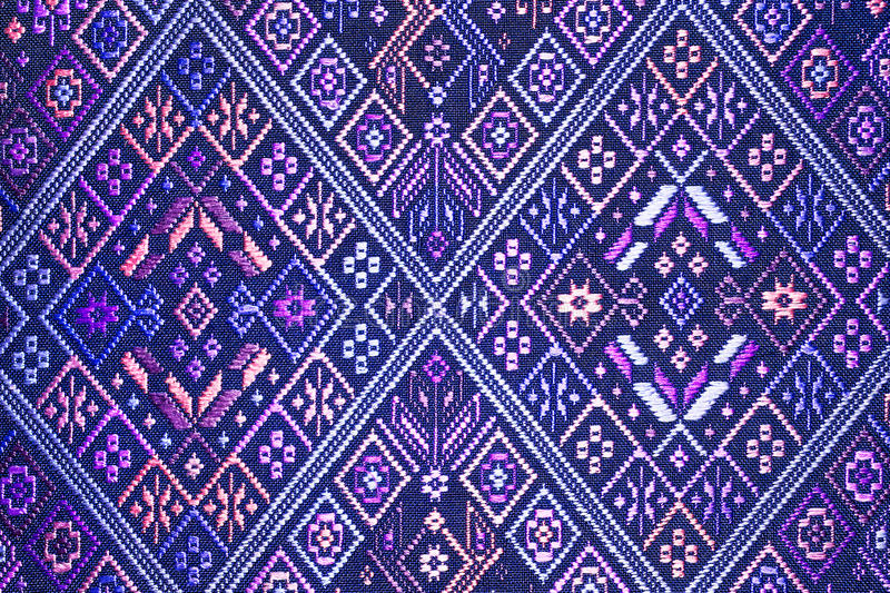 Colorful thai silk handcraft peruvian style rug surface close up More this motif & more textiles peruvian stripe beautiful. Background tapestry persian nomad royalty free stock photos