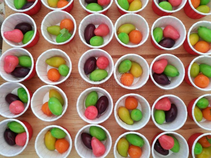 Thai sweets, Luk Chub stock images