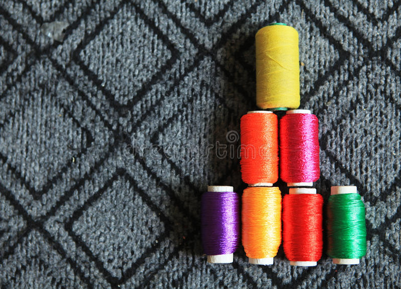 Colorful thread scroll royalty free stock photos