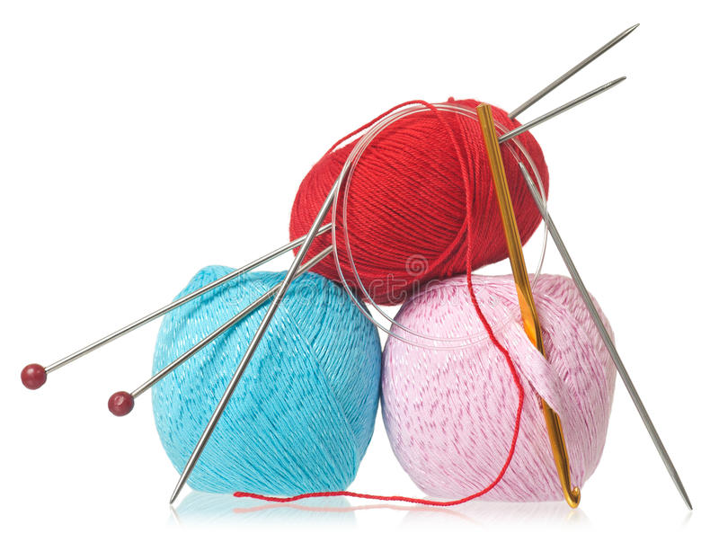 Colorful threads royalty free stock photo