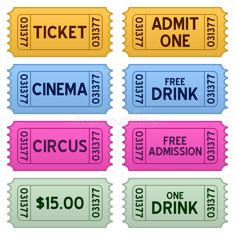 Download Colorful Tickets Collection Stock Vector - Image: 21790197