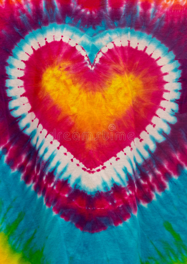 Colorful Tie Dye Heart Sign Pattern Design stock photography