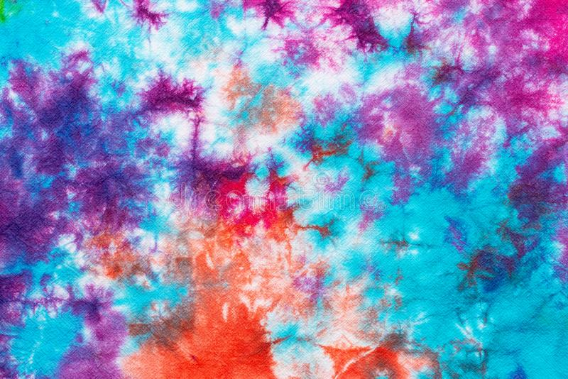 Colorful tie dye pattern abstract background stock illustration