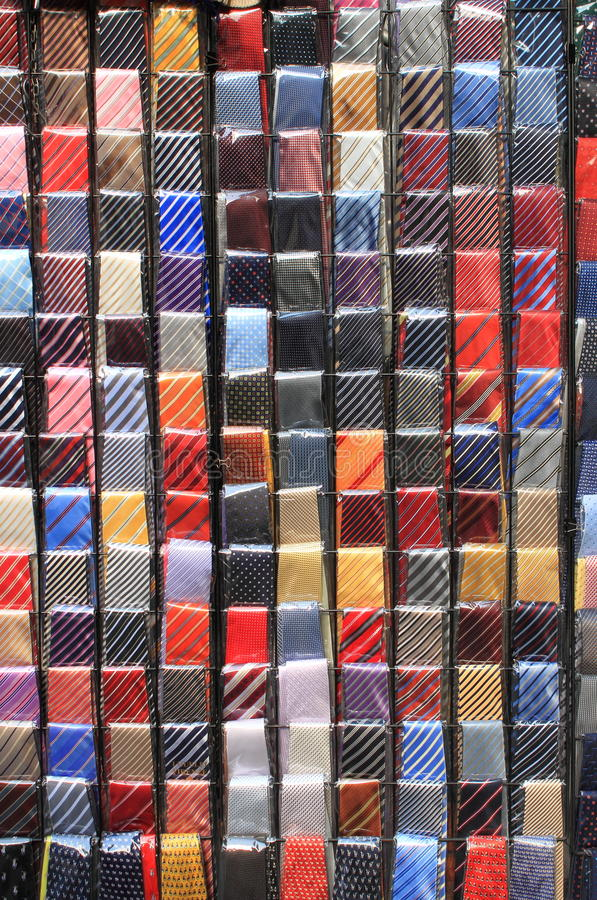 Colorful ties stock photography