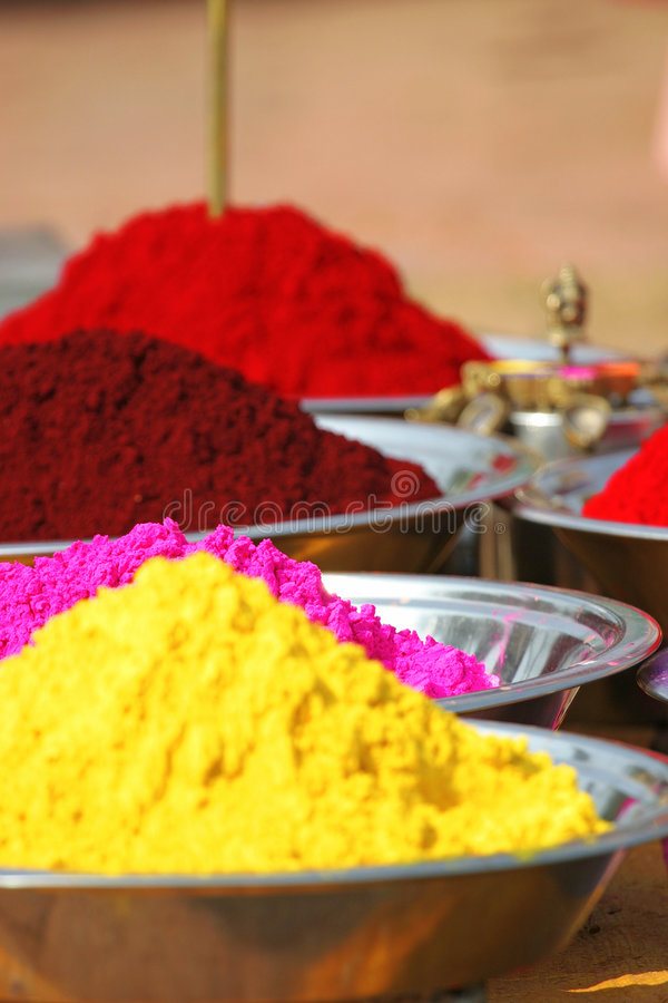 Download Colorful tika powders stock photo. Image of colouring - 1890210