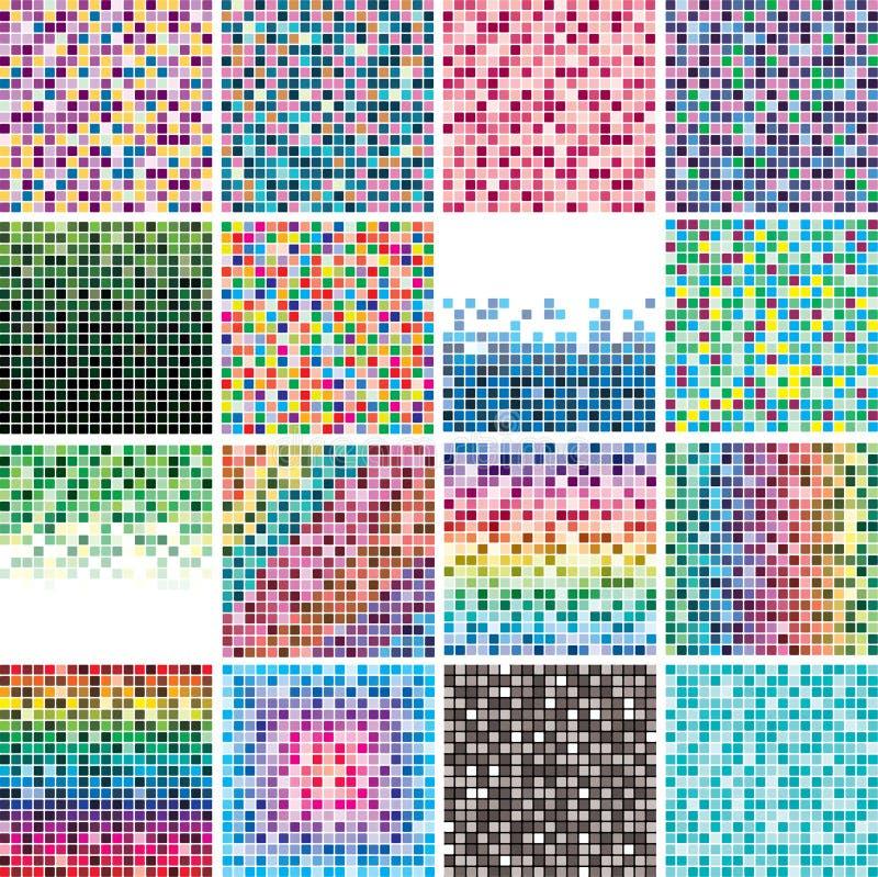 Download Colorful tile backgrounds stock vector. Illustration of orange - 19066845