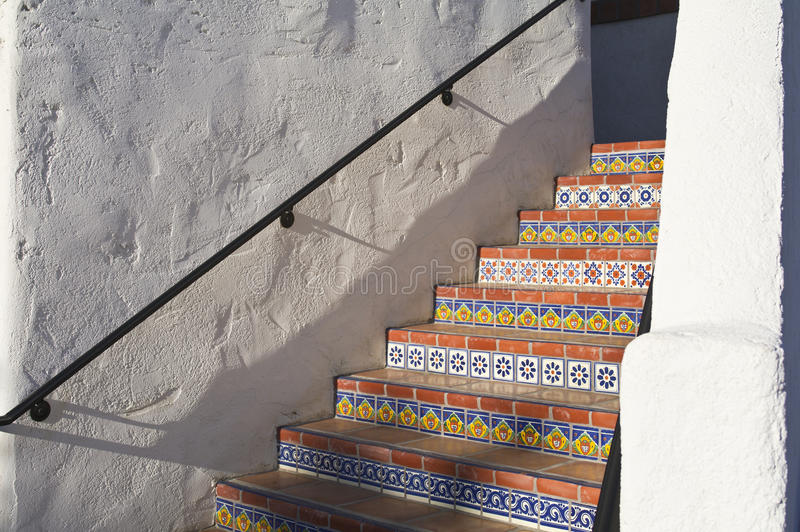 Download Colorful tiled stairway stock image. Image of decor, house - 22045197