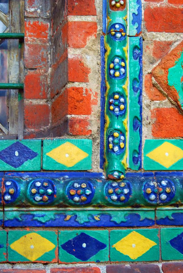 Free Colorful Tiles. Old Church Facade In Yaroslavl, Russia. Stock Image - 58158891