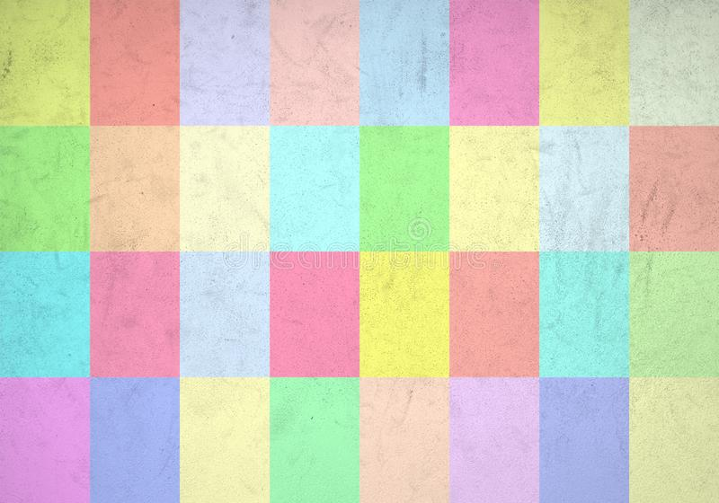 Colorful tiles wall with many soft colors royalty free stock photos