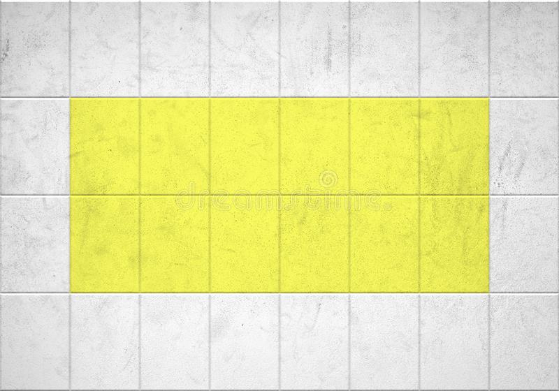 Colorful tiles wall with white and yellow tiles royalty free stock image
