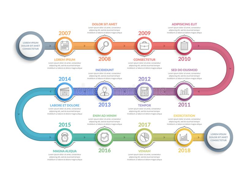 Timeline Infographics stock illustration