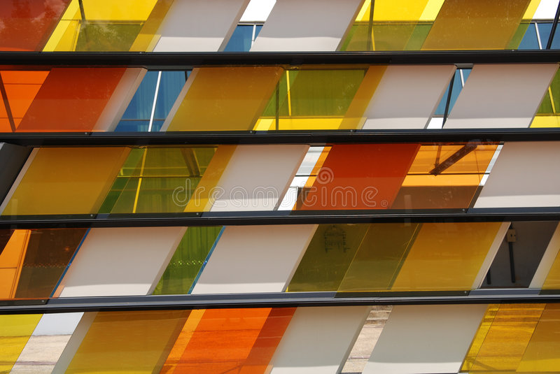 Colorful tinted glass royalty free stock photography