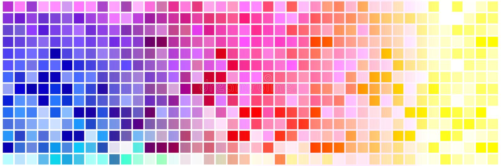Colorful tiny squares stock illustration