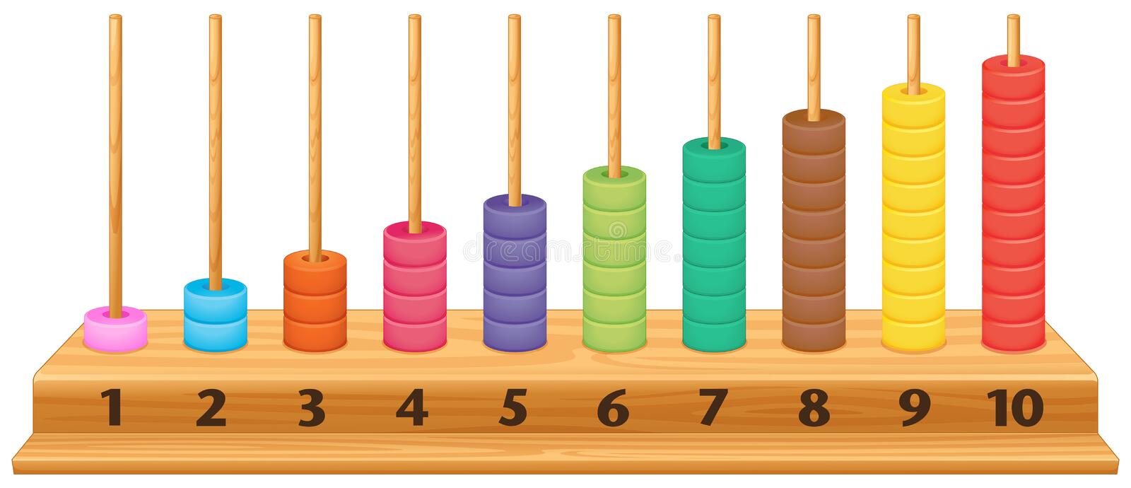 Colorful 1 to 10 abacus. Illustration stock illustration