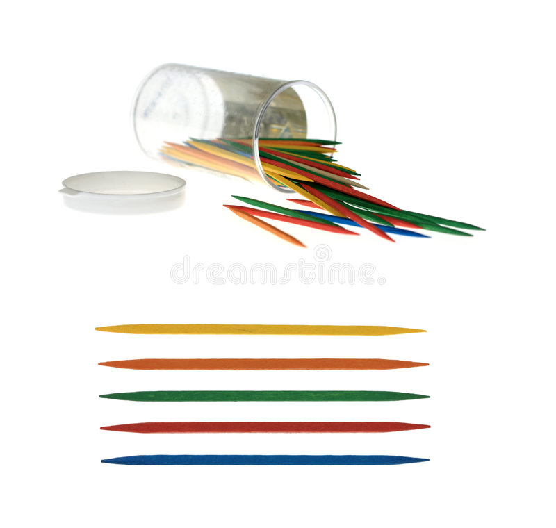 Download Colorful Toothpicks stock image. Image of close, spilled - 6966785