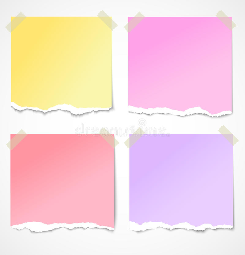 Free Colorful Torn Paper Stickers, Notes And Reminders Royalty Free Stock Photo - 26470535