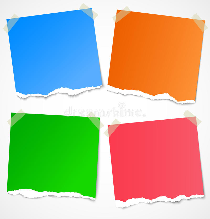Free Colorful Torn Paper Stickers, Notes And Reminders Royalty Free Stock Photo - 26538365
