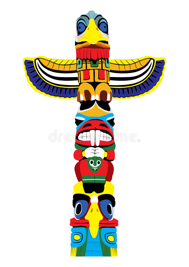 Colorful totem pole. Vector EPS10. royalty free stock images