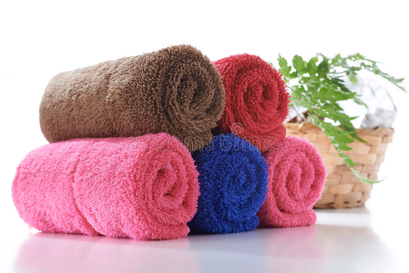 Colorful towel stock photo