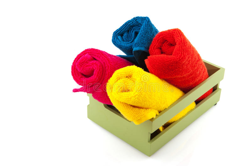 Download Colorful towels stock photo. Image of isolated, colors - 15915102