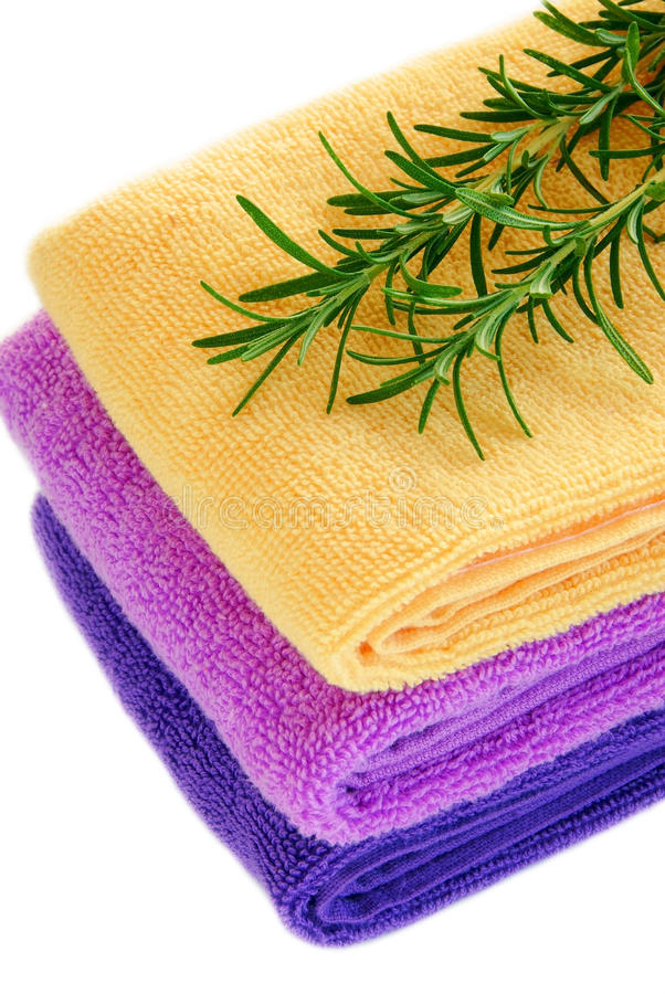 Download Colorful towels stock photo. Image of fluffy, green, branch - 21216102