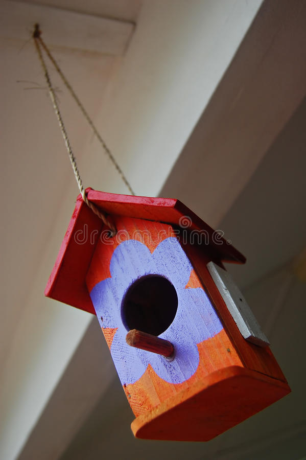 Download Colorful Toy Bird House Ornament Stock Image - Image: 13238567