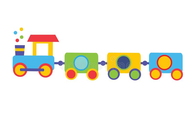 Colorful Toy train. Colorful Cartoon toy train. vector illustration for kids royalty free illustration