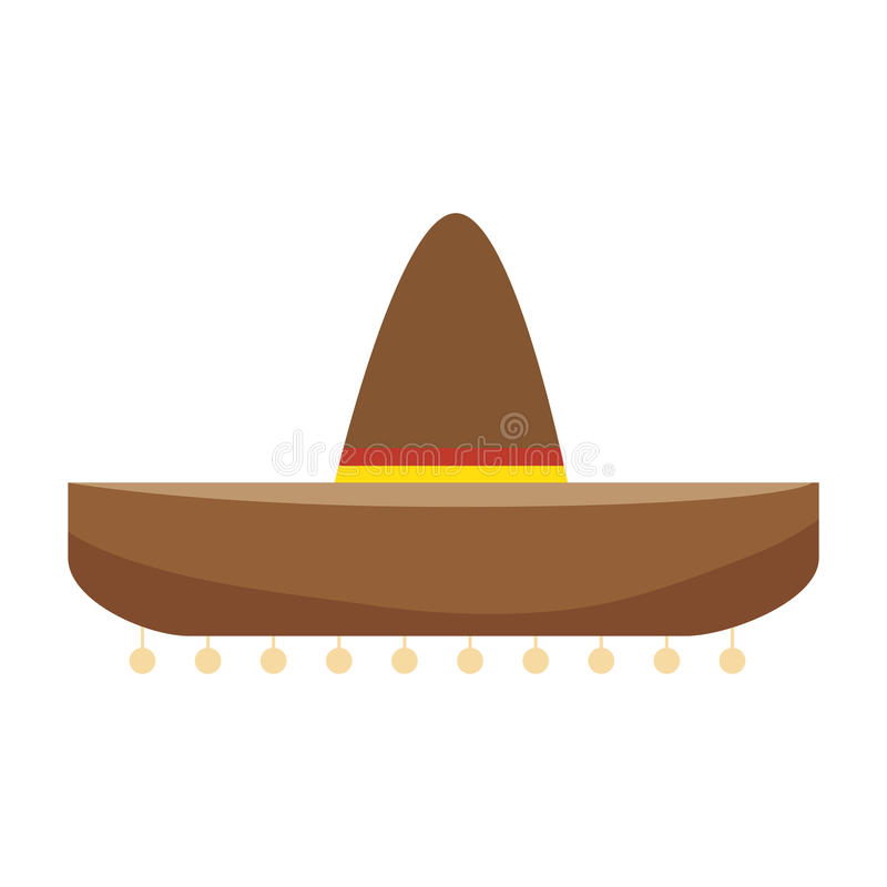 Colorful traditional mexican hat design. Vector illustration royalty free illustration