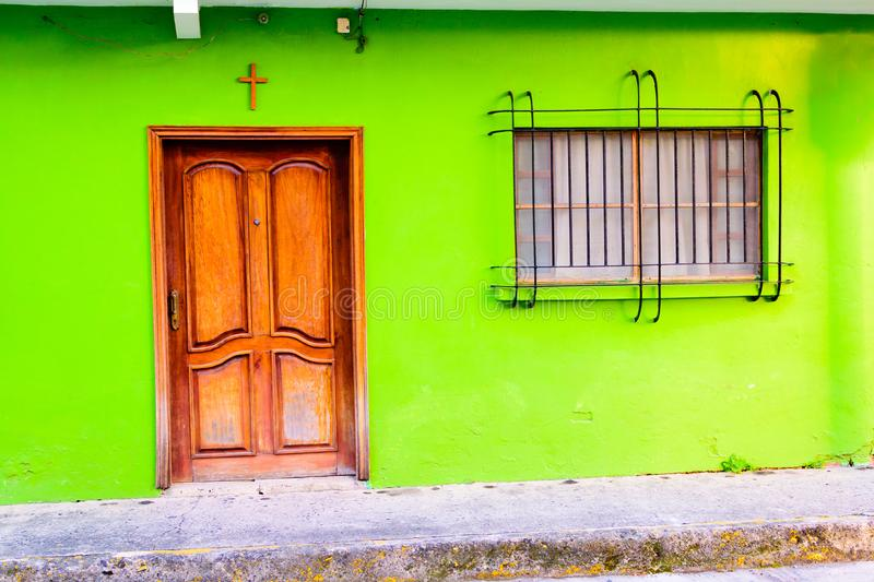 Download Colorful Traditional Mexican House Stock Image
