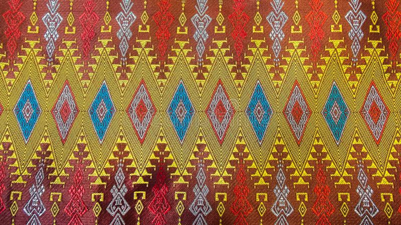 Colorful Traditional Thai Silk Textile Handcraft Texture stock photography