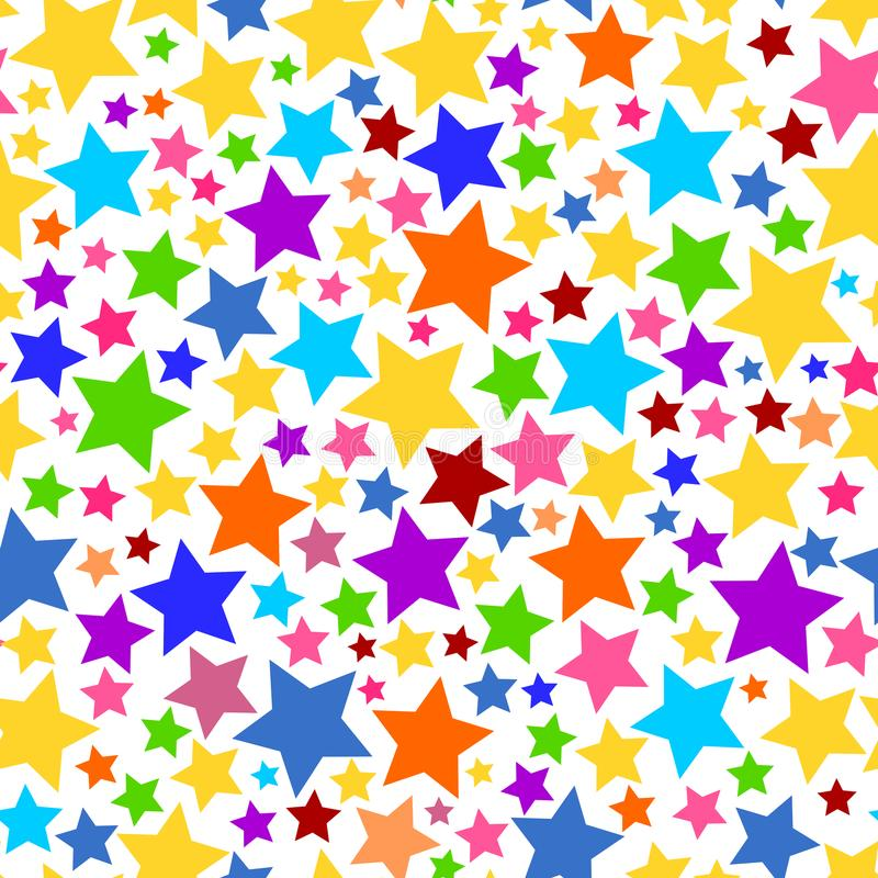 Colorful Transparent Seamless Star Background PNG vector illustration