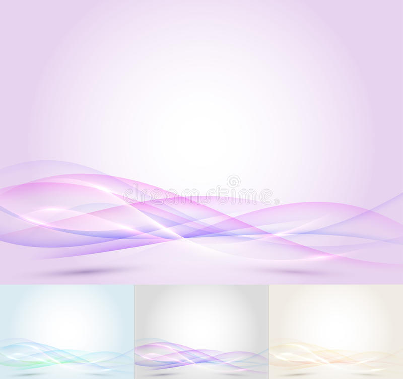 Colorful Transparent Wave - Abstract Background Royalty Free Stock Photography
