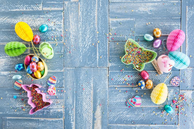 Colorful treats for easter royalty free stock photos