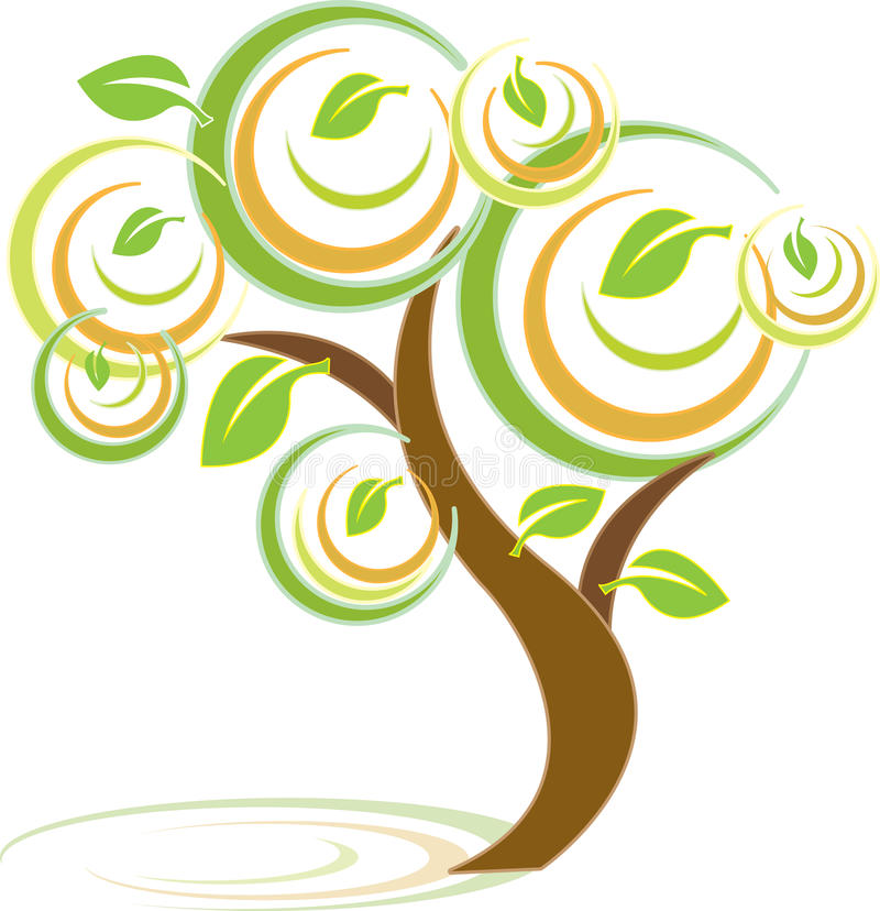 Download Colorful Tree stock vector. Image of illustration, swirl - 13841504